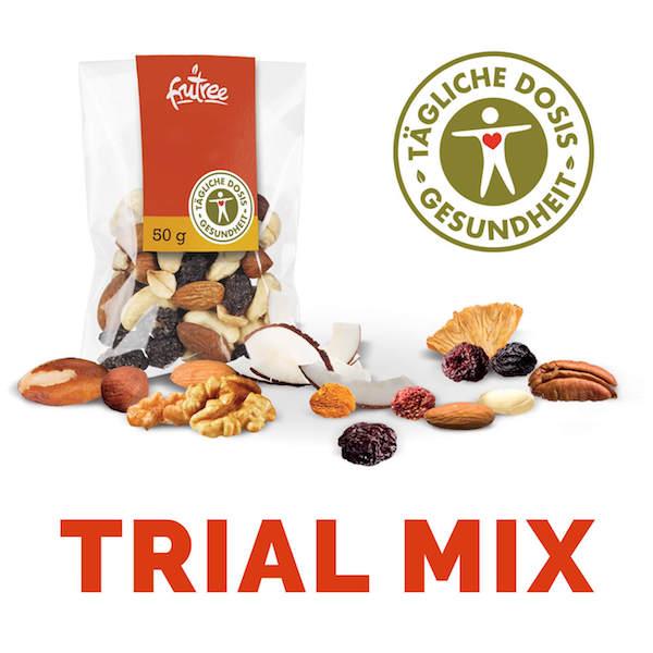 Trail Mix Variety Multi Pack ist ein wirksamer und funktioneller Snack für überdurchschnittliche körperliche und geistige Leistungsfähigkeit.   Fru'Tree