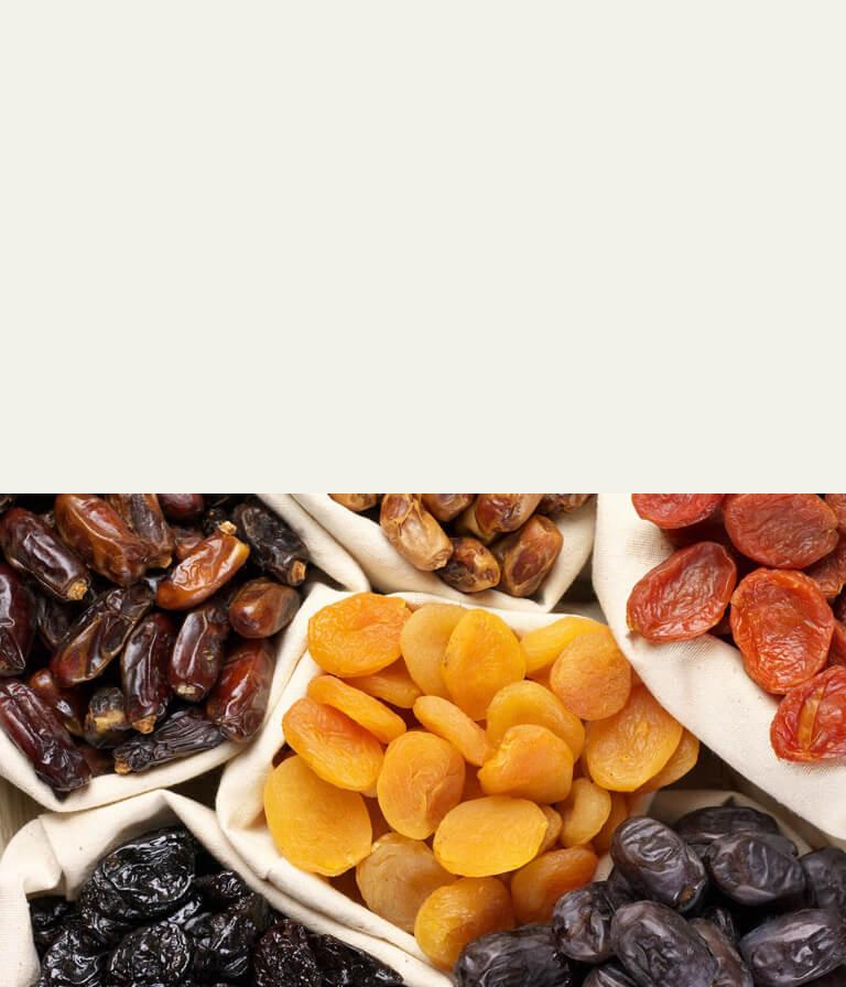 Wir verpacken getrocknete Früchte vor dem Versand, um den reinen Geschmack und die Funktionalität bioaktiver Substanzen zu erhalten. | FruTree