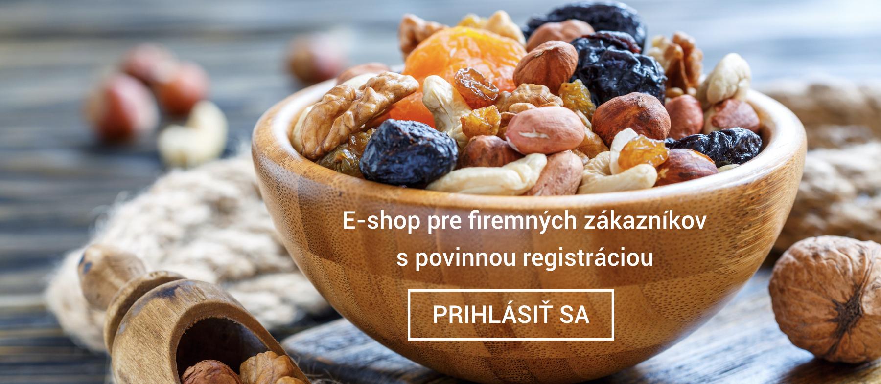 E-shop sušené ovocie a orechy pre firemných zákazníkov Frutree